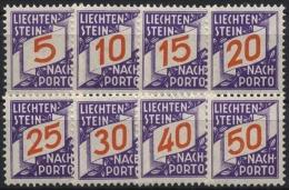 Liechtenstein Portomarken P 13/20 Postfrisch Ziffern Im Schrägen Band - Dienstpost
