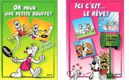 """Lot De 2 CP """"Gai Luron"""" Illustrées Par Gotlib - Gotlib"""