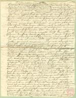 France - 33 - Bordeaux -  Cachet Généralité N° 213 -  Un Sol 4 Den Sur Document De 1728 - Algemene Zegels