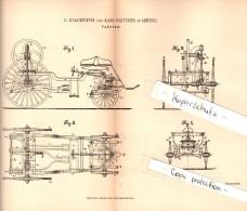 Original Patent - C. Stackfleth Und K. Plettner In Leipzig , 1885 , Fahrrad , Bicycle !!! - Transport