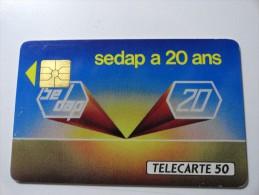 RARE : SEDAP CONSEIL EN INFORMATIQUE USED CARD ISSUE 1000Exp.
