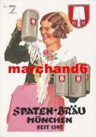 Publicité Spaten Braun Munchen Seit 1397 Agent Général Bière Pousset - Advertising