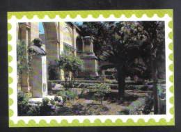 MALTA  - UPPER BARRACA GARDENS VALLETTA - BUST OF SIR WINSTON CHURCHILL -   POSTCARD - Malta