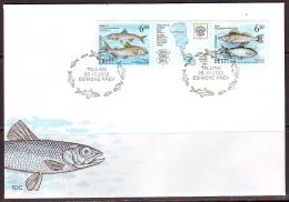 Estonia 2000. Fish 2v [:T:], Joint Issue Russia. FDC - Estonie
