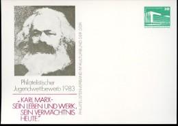 KARL MARX DDR PP18 C1/001 Privat-Postkarte Berlin 1983 - Karl Marx
