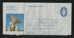 Kuwait 1976  Air Mail Postal Used Aerogramme Cover Oman to Pakistan