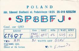 1986. QSL RADIO AMATEUR. POLAND. RZESZOW. SP8BFJ  / 347 - Radio Amateur