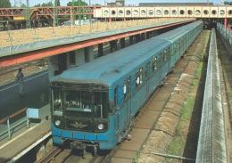 UNDERGROUND SUBWAY METRO * RAIL RAILWAY RAILROAD TRAIN * BKV KOBANYA-KISPEST STATION BUDAPEST * Top Card 0214 * Hungary - Metro