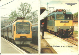 RAIL RAILWAY RAILROAD * TRAIN STEAM LOCOMOTIVE * HUNGARIAN STATE RAILWAYS MAV * CALENDAR * Munkavedelem 1993 3 * Hungary - Calendriers