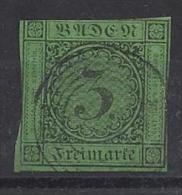 Germany (Baden) 1853-1854  (o)  Mi.6 - Baden