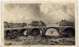ANCIEN PARIS  LE PONT NOTRE DAME VERS 1800  CARTE AYANT VOYAGEE - Arrondissement: 04