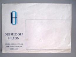 HOTEL PENSION HAUS HILTON DUSELLDORF GERMANY DEUTSCHLAND TAG DECAL STICKER LUGGAGE LABEL ETIQUETTE AUFKLEBER BERLIN