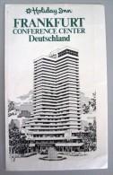 HOTEL PENSION HAUS HOLIDAY INN FRANKFURT GERMANY DEUTSCHLAND TAG DECAL STICKER LUGGAGE LABEL ETIQUETTE AUFKLEBER BERLIN