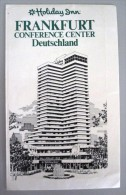 HOTEL PENSION HAUS HOLIDAY INN FRANKFURT GERMANY DEUTSCHLAND TAG DECAL STICKER LUGGAGE LABEL ETIQUETTE AUFKLEBER BERLIN - Hotel Labels