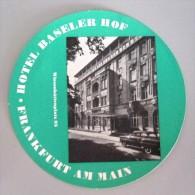 HOTEL PENSION HAUS BASELER FRANKFURT GERMANY DEUTSCHLAND TAG DECAL STICKER LUGGAGE LABEL ETIQUETTE AUFKLEBER BERLIN