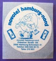 HOTEL PENSION NOVOTEL FRANKFURT GERMANY DEUTSCHLAND TAG DECAL STICKER LUGGAGE LABEL ETIQUETTE AUFKLEBER BERLIN