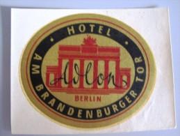 HOTEL PENSION AVLON BRANDENBURGER GERMANY DEUTSCHLAND TAG DECAL STICKER LUGGAGE LABEL ETIQUETTE AUFKLEBER BERLIN