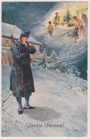 Vesele Vanoce, Frohe Weihnachten, Künstlerkarte, Tschechien, Jicin, Zittau, Postkarte - Weltkrieg 1914-18