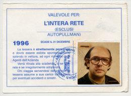 PALERMO RARO  ABBONAMENTO AUTOBUS AMAT GRATUITO PER INVALIDI CIVILI 1996