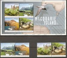 Australian Antarctic Territory AAT 2010 MiNr. 183 - 186 (Block 5) Plants Marin Mammals BIRDS 4V+1  MNH** 14,50 € - Ongebruikt