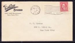 USA 1917 Letter -  White Studio Broadway  To New York - Postal History