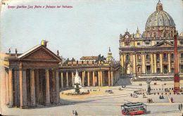 [DC5957] CARTOLINA - ROMA - BASILICA DI SAN PIETRO E PALAZZO DEL VATICANO - Viaggiata - Old Postcard - San Pietro