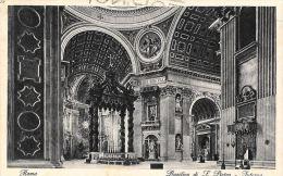 [DC5959] CARTOLINA - ROMA - BASILICA DI SAN PIETRO - INTERNO - Viaggiata 1928 - Old Postcard - San Pietro