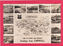 Multi View Of, Greetings From Cornwall. Posted With Stamp,A13. - Other