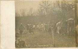 Carte Photo - ** Groupe D´Artilleurs (4 ème Pièce) En Campagne à Maresmontiers - 1916 ** - Cpa En Bon état. - War 1914-18