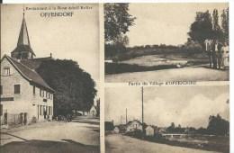 OFFENDORF : Restaurant à La Rose Et Partie Du Village - Belle CPA Utilisée En 1931 - Frankreich