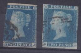 LOT DE 2 TIMBRES 1840 - 1841 VICTORIA N° 4 OBLITERE - 1840-1901 (Regina Victoria)