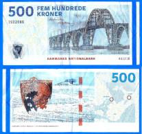 Danemark 500 Couronnes 2009 Kroner Korun Courone Courrone Pont Bridge Paypal Skrill Bitcoins OK - Danemark
