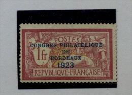 182  Regommé   Congrès Phil De BORDEAUX Cote 575  Euros - Neufs