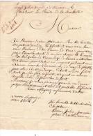 Lettres De Vannes Vers La Rochelle - 1814 - Charente Inférieur + Griffe Vannes - Vieux Papiers
