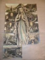 Puzzle De 9 Cartes Postales ( Il Y A Une Qui Manque : Le Pied ) : Je Suis L' Immaculée Conception  Vierge  Bernadette - A Systèmes
