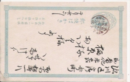 JAPON ENTIER POSTAL CIRCULE - Entiers Postaux