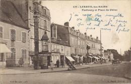 LUXEUIL LES BAINS  CPA (70)  Faubourg Et Place Du Chene - Luxeuil Les Bains