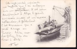 CPA - (Bateaux) Alger - Torpille - Guerra