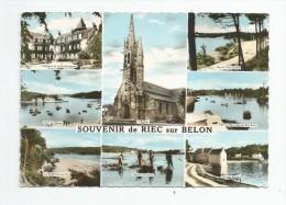 Cp , 29 , Souvenir De RIEC SUR BELON , Multi-vues , Ed : Artaud , Voyagée - France