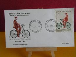 FDC- Bicyclette 1918 - Bamako - 24.9.1968 - 1er Jour, République Du Mali - Mali (1959-...)