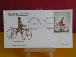 FDC- Draisienne 1809 - Bamako - 24.9.1968 - 1er Jour, République Du Mali - Mali (1959-...)