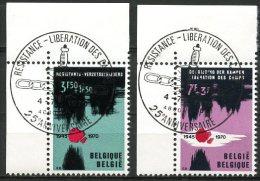 BE   1539 - 1540   Obl   --   Premier Jour / Eerste Dag  Aubel  --  Coin De Feuille  --  Pleine Gomme - Used Stamps