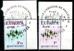 BE   1623 - 1624  -----   Premier Jour / Eerste Dag   Liège   --  Coin De Feuille  --  Pleine Gomme - Used Stamps
