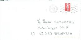 Frankreich St Julipn Genevois Hte. Savoie TGST 1997 Marianne Rollemmarke U+o Geschnitten - Poststempel (Briefe)