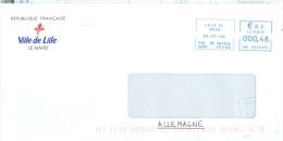 Frankreich Lille TGST 2006 Stadtverwaltung Lilie - Poststempel (Briefe)