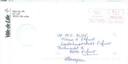 Frankreich Lille TGST 2003 Stadtverwaltung Lilie - Poststempel (Briefe)