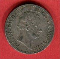 PRUSSE 1 THALER (C 130D) TB  45 - [ 1] …-1871 : German States