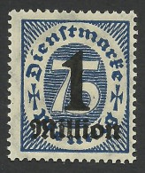 Germany, 1 Mm. On 75 Pf. 1923, Sc # O37, Mi # 96, MH - Officials
