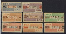 DDR Dienst Michel No. III - X ** postfrisch
