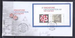 Singapore Liechtenstein 2014 Joint Stamp Issue,S/S FDC - Singapore (1959-...)